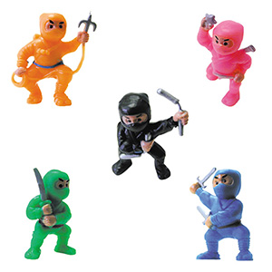 Ninja Fighters Figurines in 2'' Capsules (250 pcs)