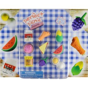 Perfect Picnic Erasers Blister Display