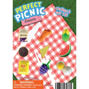 Perfect Picnic Erasers Display Card -  5 inch x 7 inch