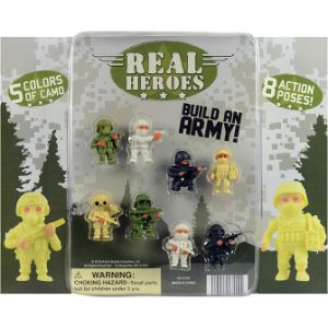 The Real Heroes Figure Blister Display