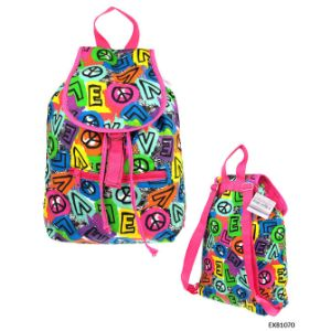 Peace and Love Print Backpack