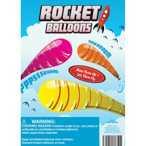 Rocket Balloons in 1.1'' Capsules