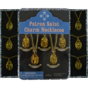 Patron Saints Necklaces Blister Display