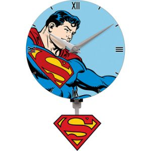 Superman Pendulum Mini Wall Clock
