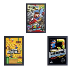 Super Mario Framed Art 11 x 17