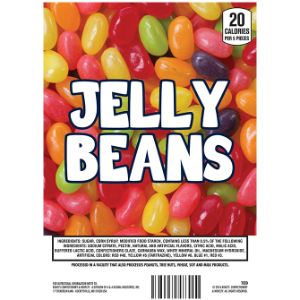 Jelly Beans Display Card