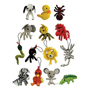 Animal String Dolls in Bulk Bag (100 pcs)