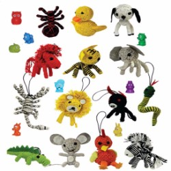 Animal String Dolls and Mini-malz Mix in 2'' Capsules