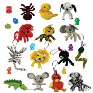 Animal String Dolls & Mini-malz Mix in 2'' Capsules (250 pcs)