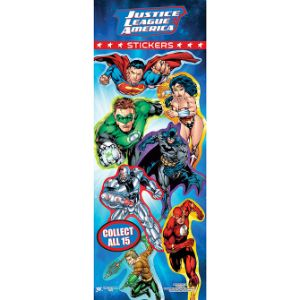 DC Superheroes Stickers Display Card