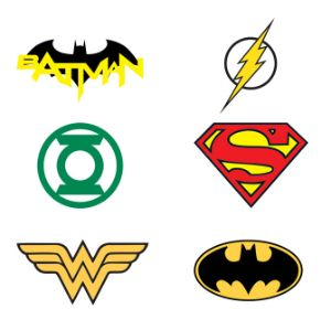 DC Comics Logo Tattoos, Bag of 1,200