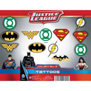 DC Comics Logo Tattoos Display Card