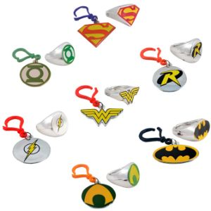 DC Comics Backpack Clips in Bulk Bag