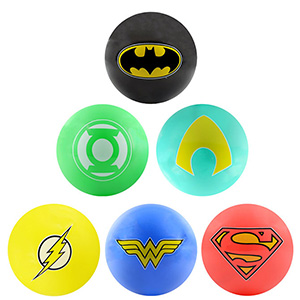DC Comics Inflatable Hero Logo Balls, 5''