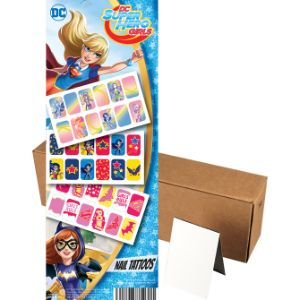 DC Super Hero Girls Nail Tattoos in Folders (300 pcs)