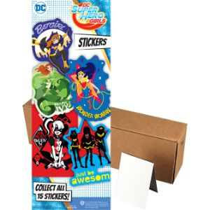 DC Super Hero Girls Stickers, In Folders