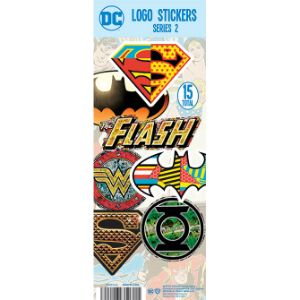 DC Comics Logo Stickers Display