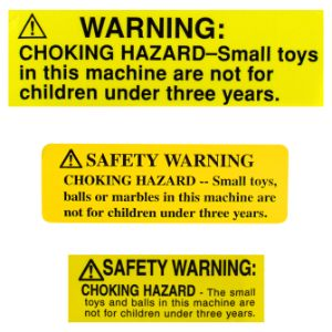 Safety Warning Decals-Inside For Globes